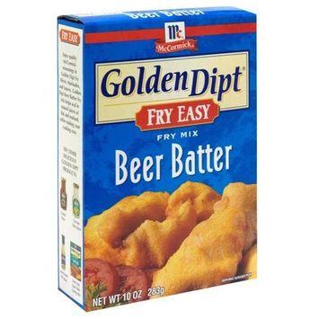 McCormick Golden Dipt Beer Batter Mix, 10oz (Pack of 3)