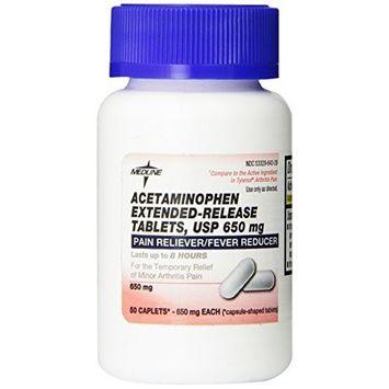 Medline Acetaminophen Extended Release Caplets