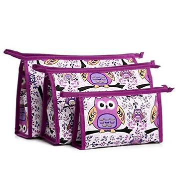 DEESEE(TM) 3pcs Cosmetic Toiletry Travel Wash Makeup Bag Holder Pouch Kits Set