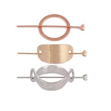 Joyci 3Pcs Fashion Women's Hair Pin Hair Fork Slide Tuck Hair Clip Accessory (C)