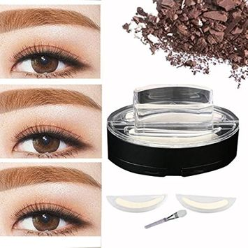 Voberry Fashion Lazy Makeup Brow Stamp Powder Delicated Natural Perfect Enhancer Straight United Eyebrow