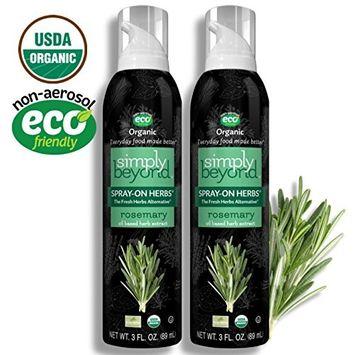 Simply Beyond, Organic Spray On Herbs, Rosemary, 3 Fl Oz (Rosemary, 2 Pack)