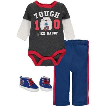 Bon Bebe Baby Boys 0-9 Months Football Puppy Shoe Pant Set