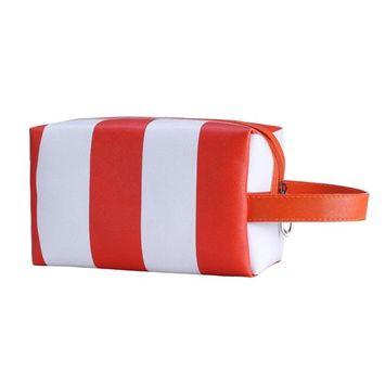 DEESEE(TM) Portable Girl Multifunction Makeup brush holder Bag Pouch Tassel Handbag (Orange)