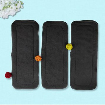 5 Pcs/Set Reusable 4 Layers Bamboo Charcoal Soft Baby Cloth Nappy Diaper