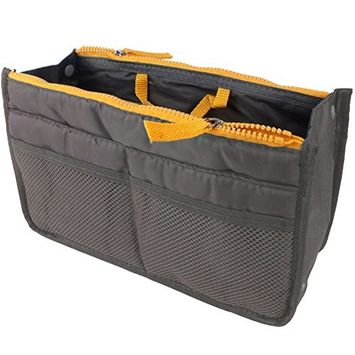 Leegoal(TM) Handbag Pouch Bag in Bag Organiser Insert Organizer Tidy Travel Cosmetic Pocket,Gray