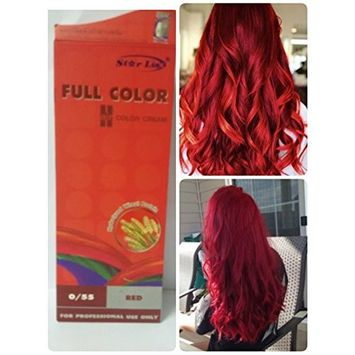 Hair dyeing Color Permanent Cream Cosplay Punk Goth Emo Red No 55