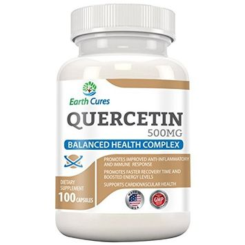 Quercetin 500mg - Joint Relief, Anti-Histamine, Anti-Inflammatory and More by Earth Cures