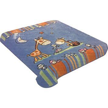 Hiyoko Soft Baby Blanket - Dark Blue
