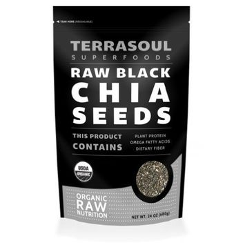 Terrasoul Superfoods Organic Black Chia Seeds, 2 Pounds [Black]