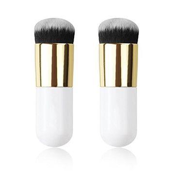 TraderPlus 2pcs Blush Brush Foundation Makeup Brush Cosmetic Brush