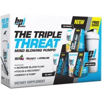 The Triple Threat Stack - HURRICANE ORANGE, WICKED FRUIT BLAST (25 Grams Powder) by BPI Sports at the Vitamin Shoppe