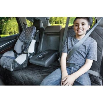 Rumbi Baby Bench Seat Protector For Up To 3 Seatbelts with Removable Zipper, Black
