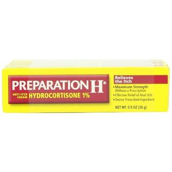 Preparation H Anti-Itch Cream with Hydrocortisone 1%, 0.9 Ounce Tube Personal Healthcare / Health Care