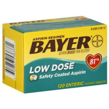 Bayer Aspirin Regimen Low Dose 81mg Enteric Coated Tablets, 120-Count Personal Healthcare / Health Care
