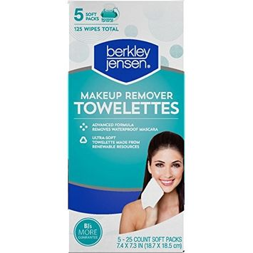 Berkley Jensen Make Up Remover Facial Towelettes, 125 ct. [pack of 2]