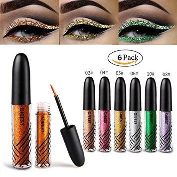 Glitter Eyeshadow 6 Colors Liquid Glitter Eyeliner Metallic Shimmer Glitter Eyeshadow