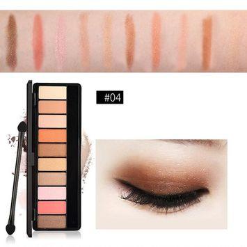 Fenleo 10 Colors Eyeshadow Palette Shimmer Matte Eye Shadow Cosmetics Beauty Makeup Set