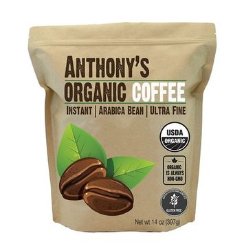 Anthony's Organic Instant Coffee, Batch Tested Gluten Free, Ultra Fine