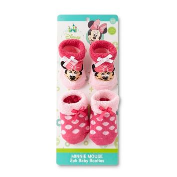 Disney Minnie Mouse Infant Girls' 2-Pairs Bootie Socks