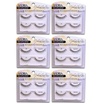 Andrea two of a kind Lashes 21 black ( 6 pack )