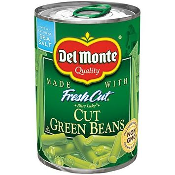 Del Monte Canned Fresh Cut Blue Lake Green Beans, 14.5-Ounce, 4-Count (Pack of 6)