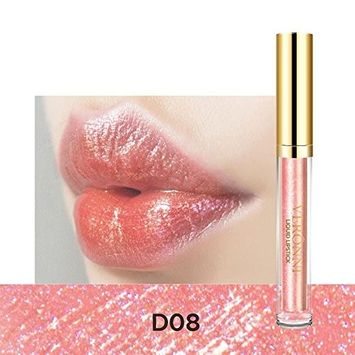Metallic High Shine Lip Gloss, Lotus.flower Glazed Lip Color Pearly Lustre Lipstick Charming Beauty Women Sexy Makeup Special for Valentine