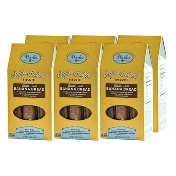 Marlo's Bakeshop GF Banana Bread Biscotti, Gourmet Cookies, Gluten-Free, Dairy-Free, Soy-Free, Non-GMO