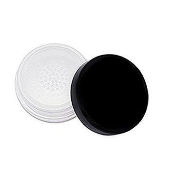 30ml 1oz Refillable Empty Make-up Loose Powder Case Holder Container Cosmetic Box with Soft Sponge and Sifter for DIY (Black)