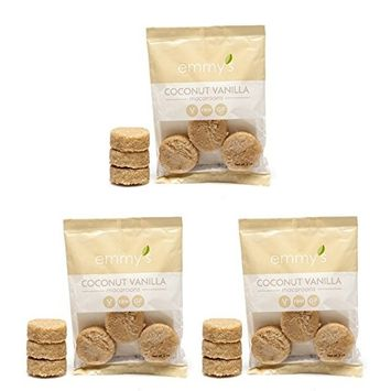 Emmy's Macaroons, 2 Ounce (Pack of 3) (Coconut Vanilla)