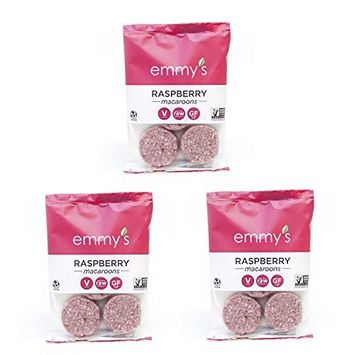 Emmy's Macaroons, 2 Ounce (Pack of 3) (Raspberry)