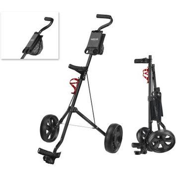 Caddy Tek CaddyTek Deluxe 2-Wheel Pull Cart, Black