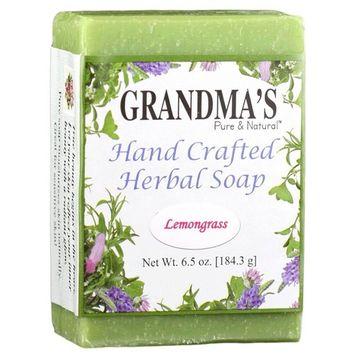 Grandma's Herbal Soap Bar - 6.0 oz Lemongrass Face & Body Wash Cleans with Rich & Luxurious Lather - 51609 [Lemongrass]
