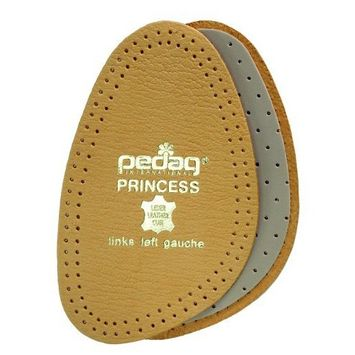 Pedag 101 Princess Cushioning Leather Half Forefoot Insole, Tan, Women's 5/6