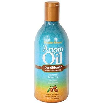 Double Sheen Argan Oil Conditioner detangles and nourishes while revitalizing hair with Argan Oil,
