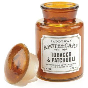 Tobacco & Patchouli Apothecary Jar Glass Candle 8 oz.