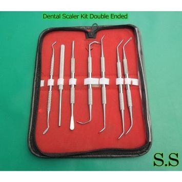 ODM 7 Pcs Dental Scaler Kit Double Ended Instruments by ODONTOMED1