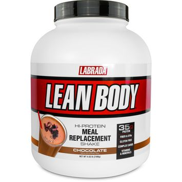 Labrada Lean Body Hi-Protein Meal Replacement Powder, Chocolate, 35g Protein, 4.63 Lbs