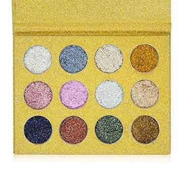 IMAGIC 12 Color Glitter Eyeshadow Palette Makeup Eye Shadow Rainbow Palette Pigments Matte Shimmer