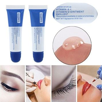 Hot sale! Voberry 5PC Portable Microblading Permanent Makeup Supplies Eyebrow Lip Tattoo Ointment Aftercare Cream [Random]