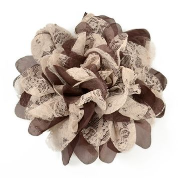 Expo International, Inc Expo Mary Kate Lace Chiffon Flower Brooch Pin and Hair Clip Accessory