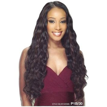 STUNNING WAVE 5PCS (#1 Jet Black) - Shake N Go Equal Invisible Part 22'' Synthetic Double Weave Extensions