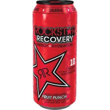 Rockstar Recovery Fruit Punch - 16 fl oz Can