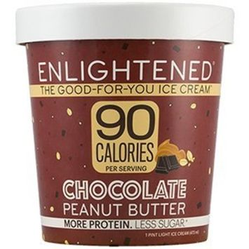 Enlightened - The Good For You Ice Cream, High Protein-Low Sugar-High Fiber-Low Fat, Chocolate Peanut Butter, Pint (4 Count)