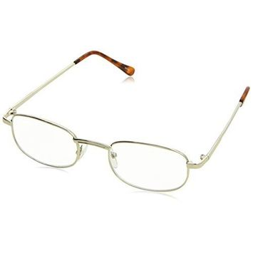 Dr. Dean Edell Reading Glasses, Gold Metal with Brown Temple Tips, 3.00, 0.200 Ounce