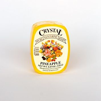 Crystal Glycerine Soap Bars Pineapple (24 bars)