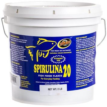 Zoo Med Spirulina 20 Flakes: 2 lbs