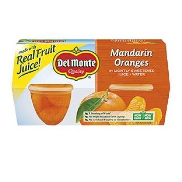 Del Monte Mandarin Oranges in lightly sweetened Juice and water 2 packs of 4 cups each