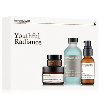 Youthful Radiance Kit Neuropeptide Eye Therapy, Face Finishing Moisturizer Tint, Blue Plasma Cleansing Treatment, High Potency Amine Face Lift