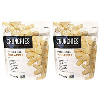 Crunchies All Natural Freeze-Dried Pure Fruits Snack 1oz, 2 Packs (Pineapple)